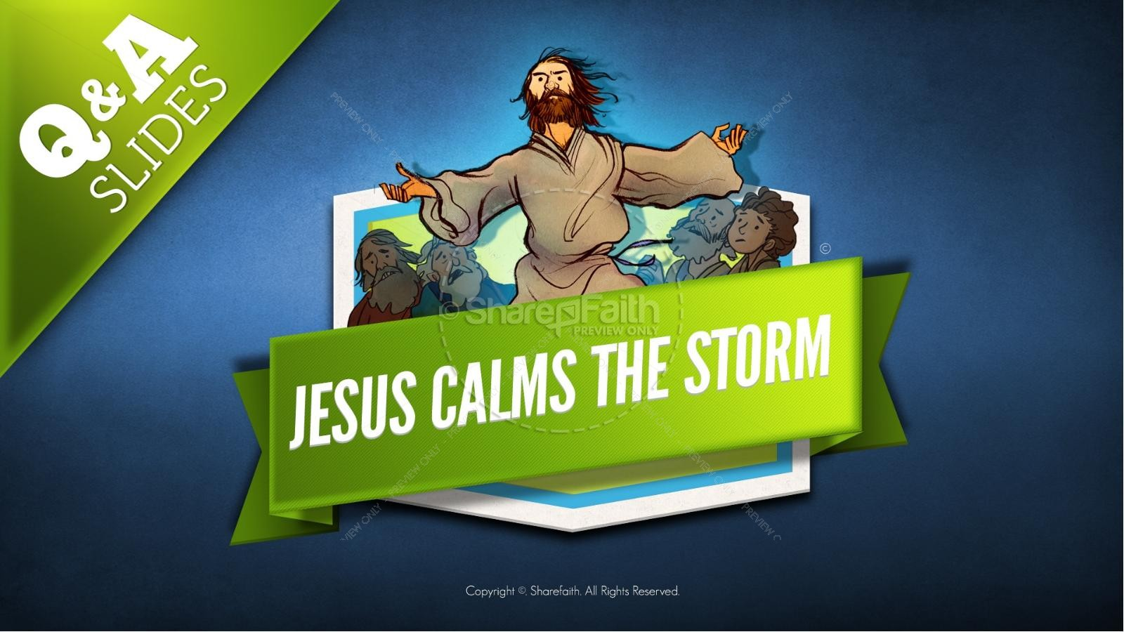 Jesus Calms The Storm Kids Bible Story | Kids Bible Stories