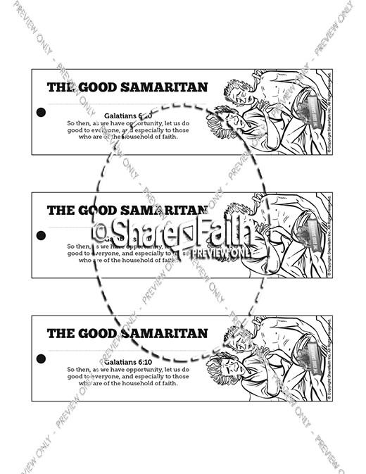 The Good Samaritan Bible Bookmarks