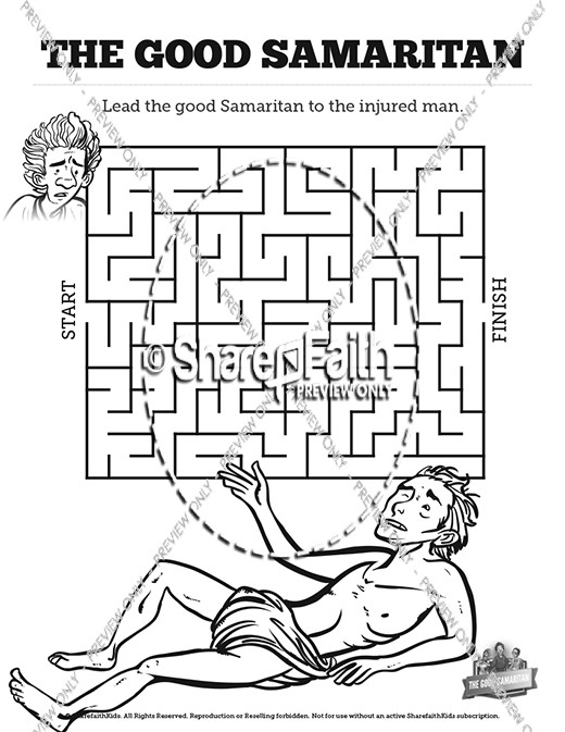 The Good Samaritan Bible Mazes