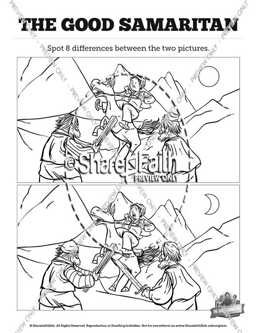 Good Samaritan #1 Coloring Page | Sermons4Kids | 673x520
