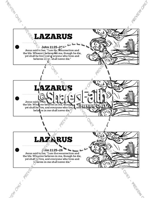 John 11 Lazarus Bible Bookmarks
