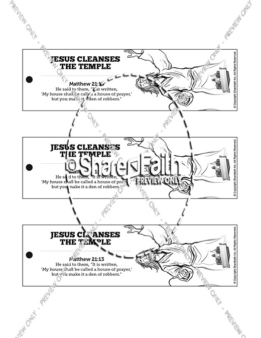 Matthew 21 Jesus Cleanses the Temple Bible Bookmarks