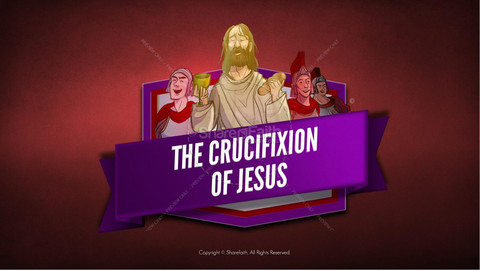 Jesus' Crucifixion Kids Bible Story | slide 1