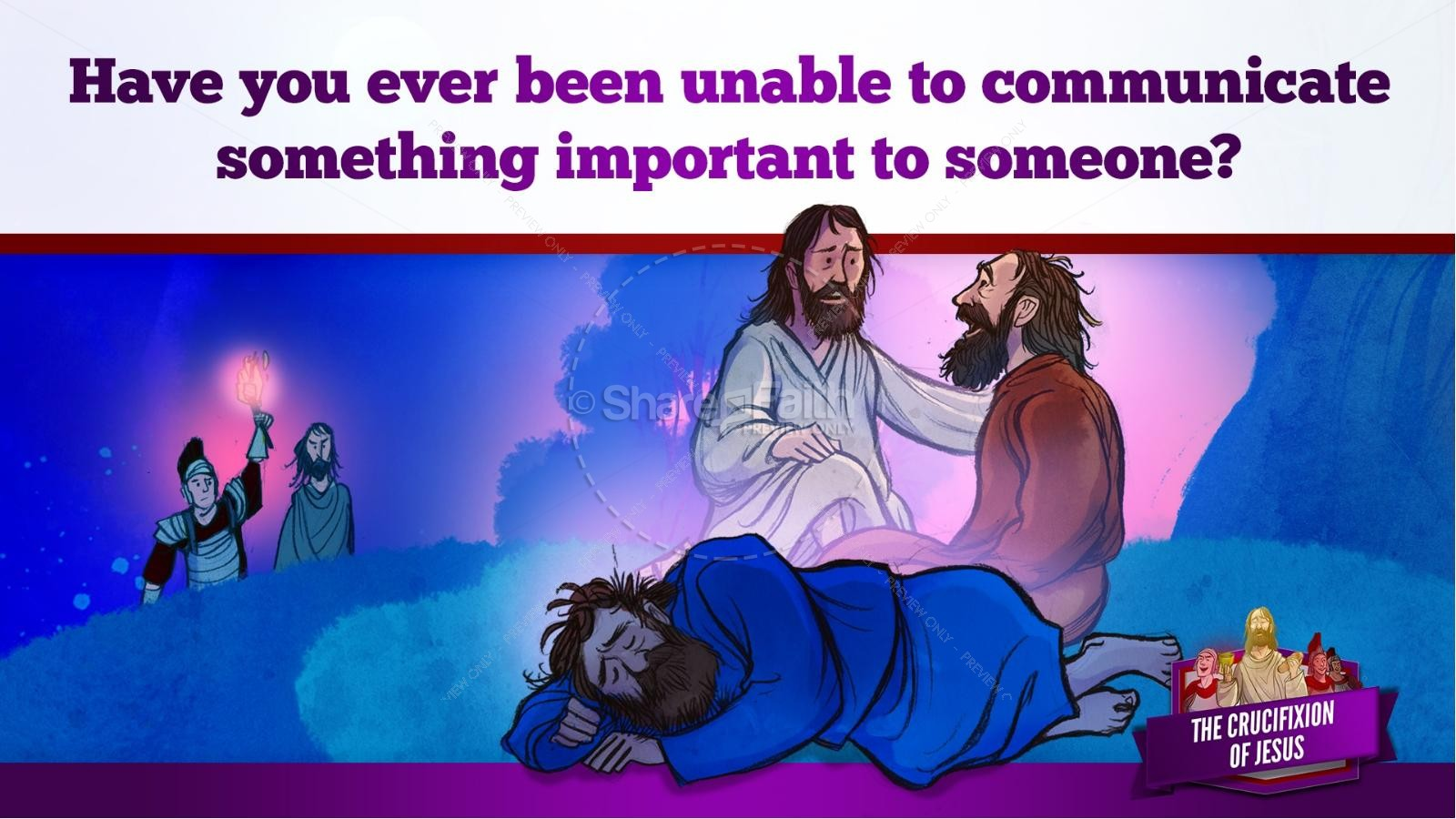 Jesus' Crucifixion Kids Bible Story