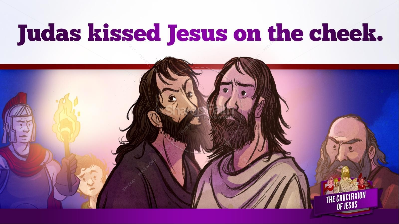 Jesus' Crucifixion Kids Bible Story | slide 54