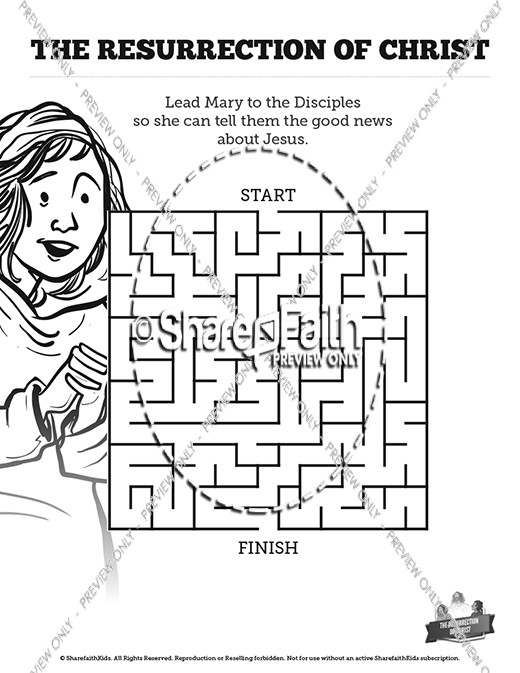Jesus' Resurrection Bible Mazes
