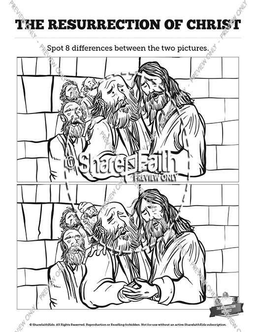 Jesus' Resurrection Kids Spot The Difference