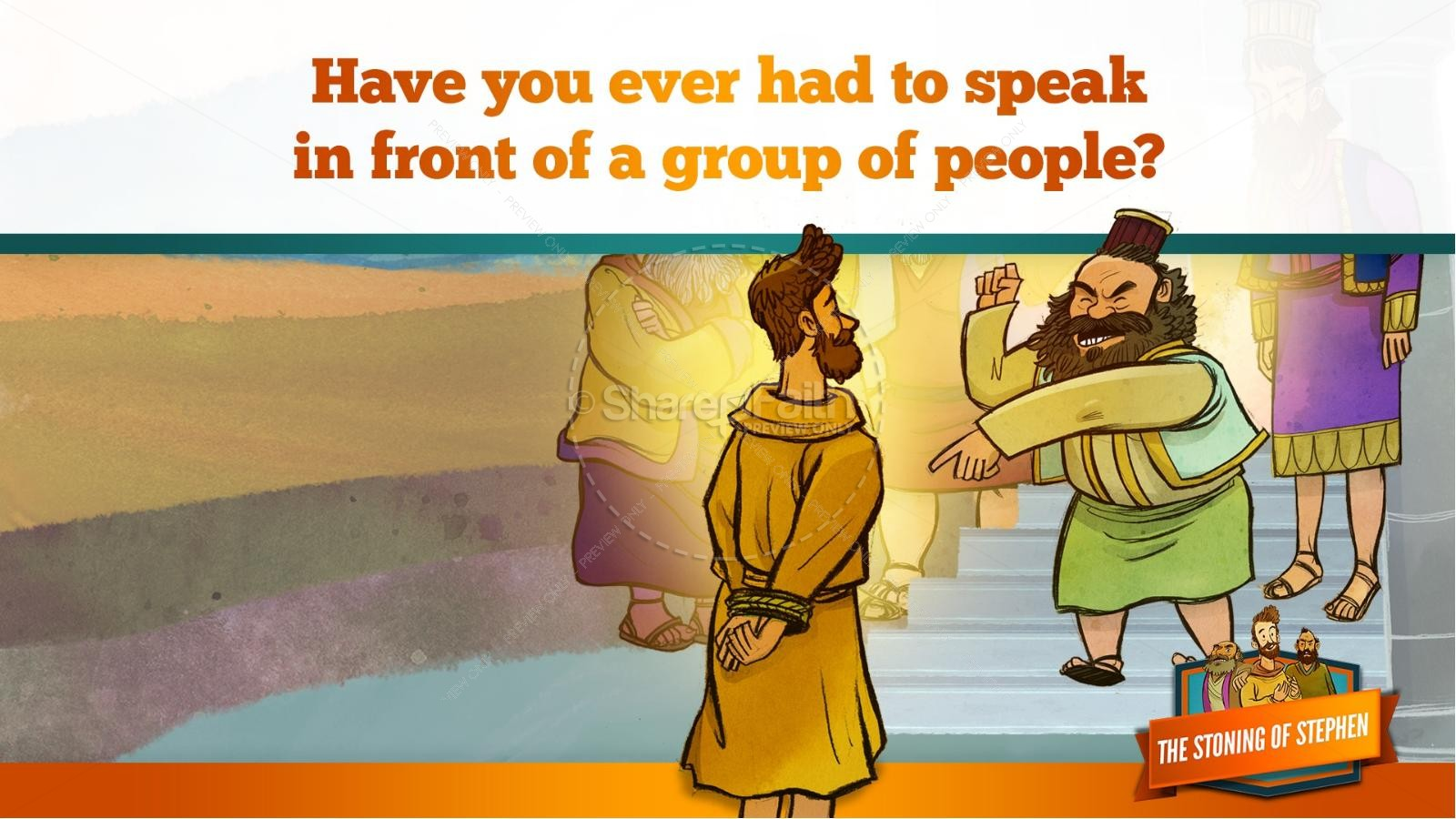 Acts 7 The Stoning of Stephen Kids Bible Story