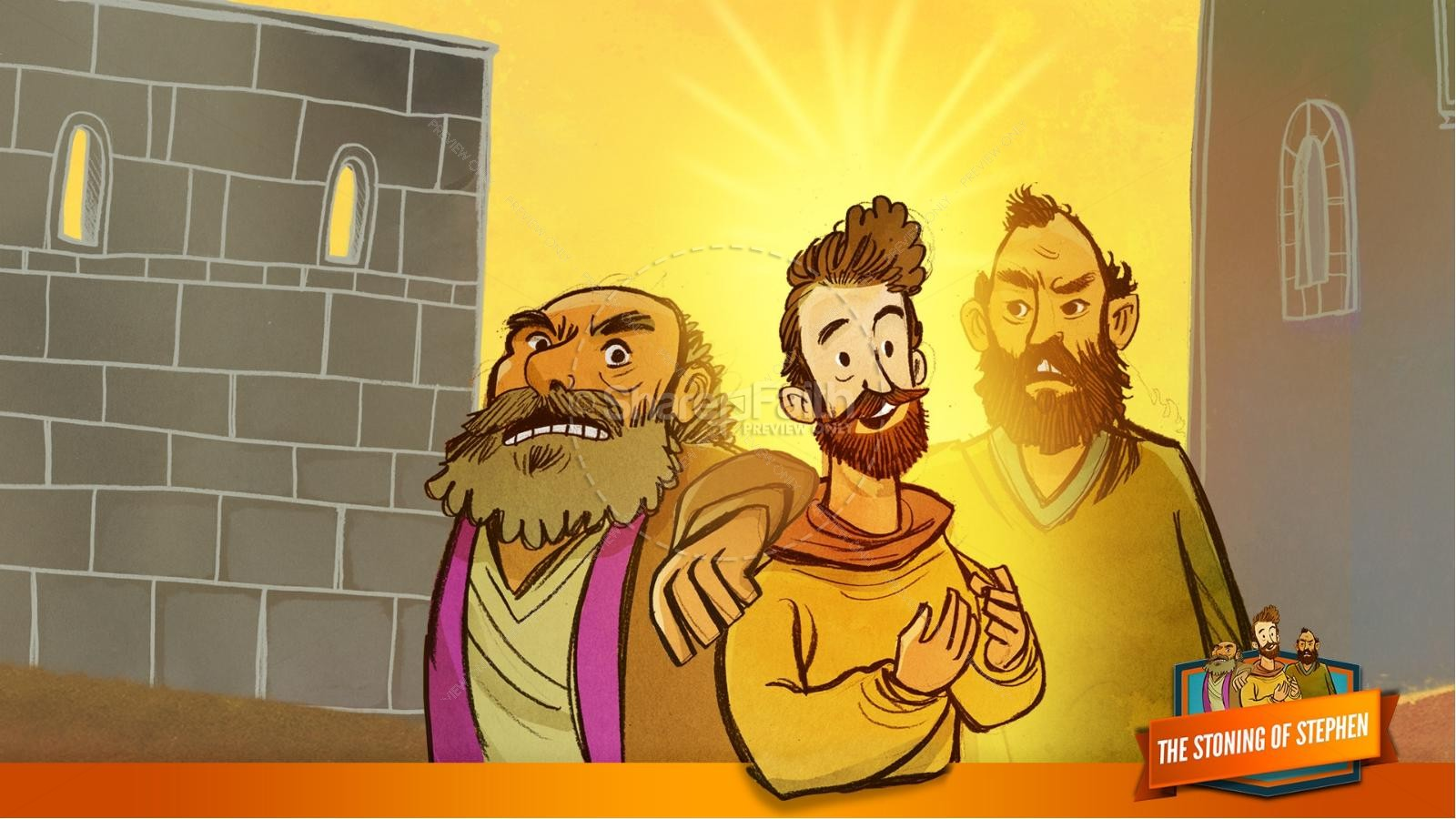 Acts 7 The Stoning of Stephen Kids Bible Story | slide 26