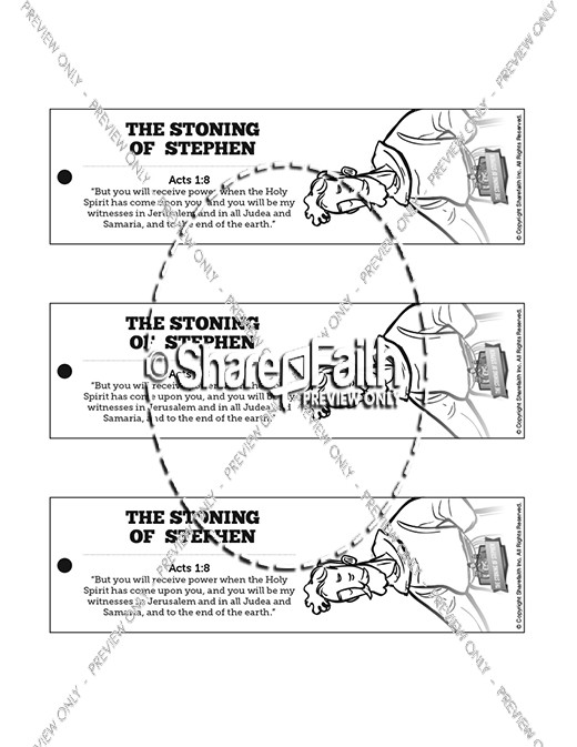 acts 7 the stoning of stephen bible bookmarks