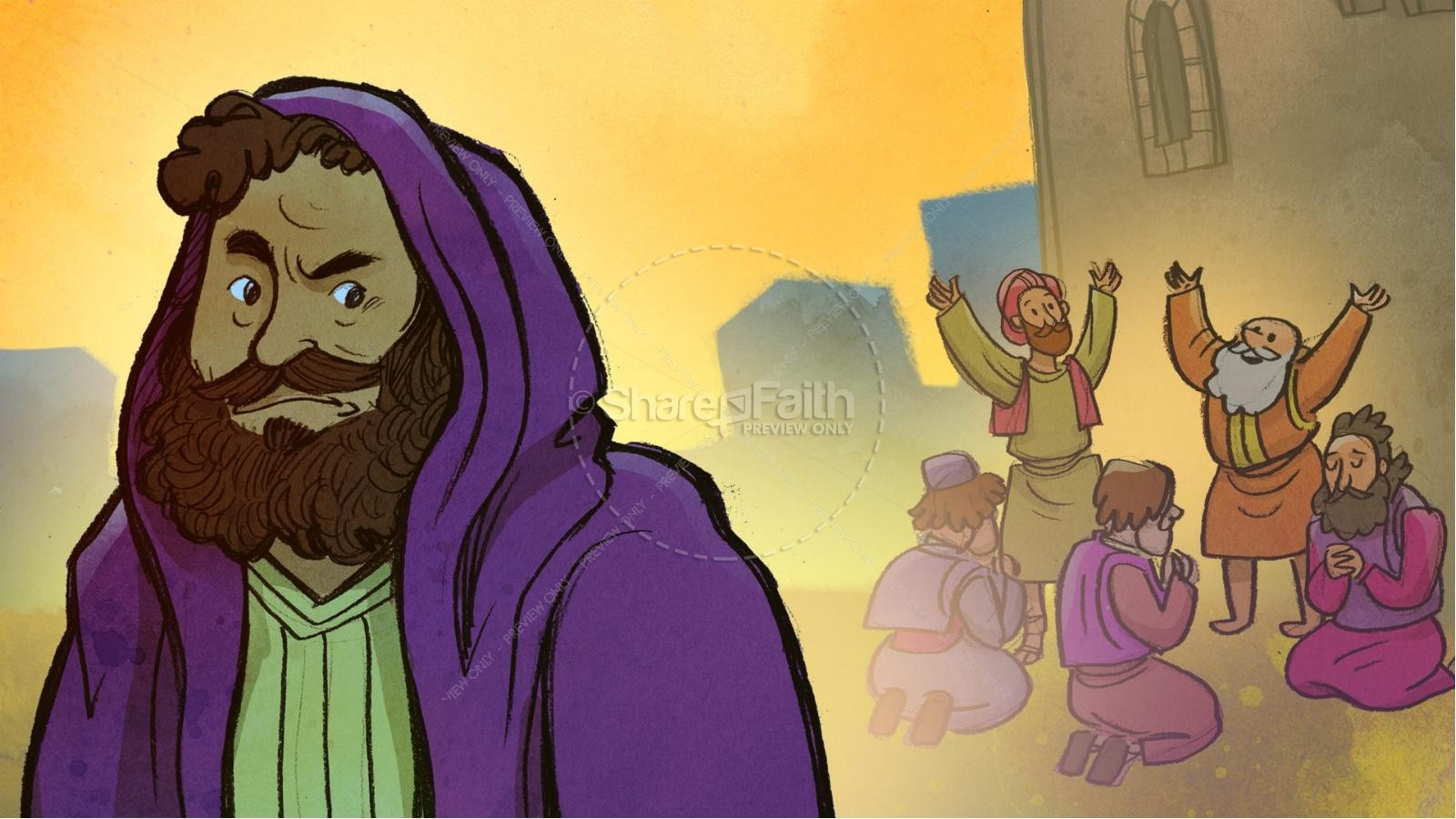 Acts 9 Paul's Conversion Kids Bible Stories | slide 4