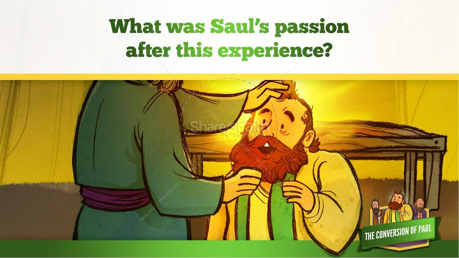 Acts 9 Paul's Conversion Kids Bible Stories