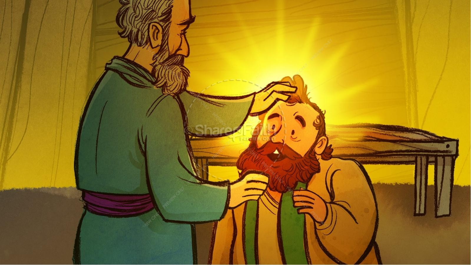Acts 9 Paul's Conversion Kids Bible Stories | slide 8