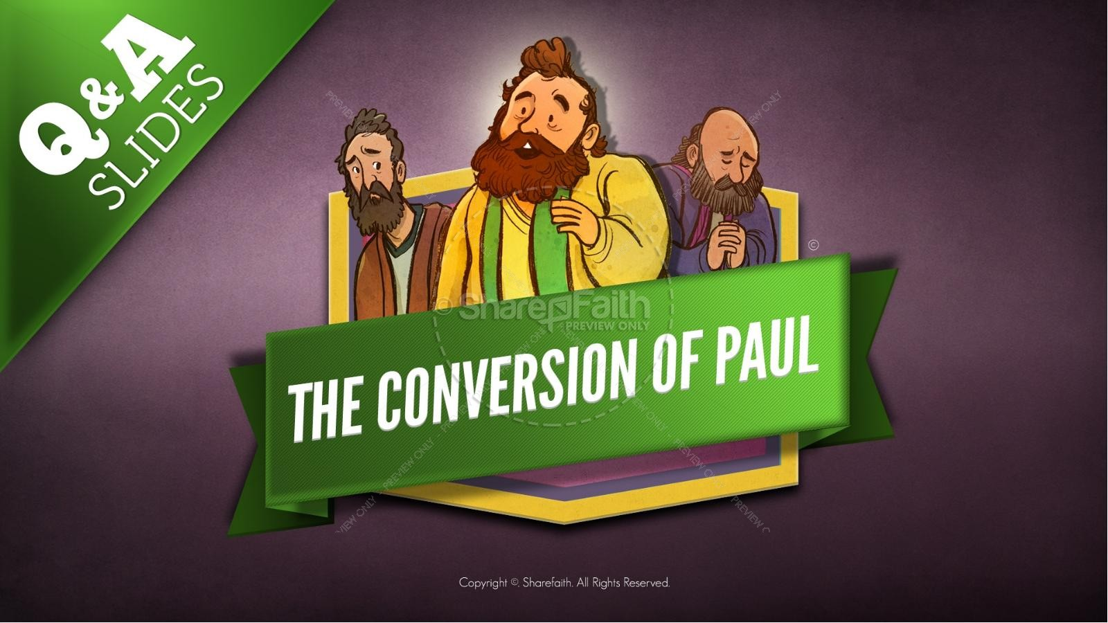 Acts 9 Paul's Conversion Kids Bible Stories | slide 9