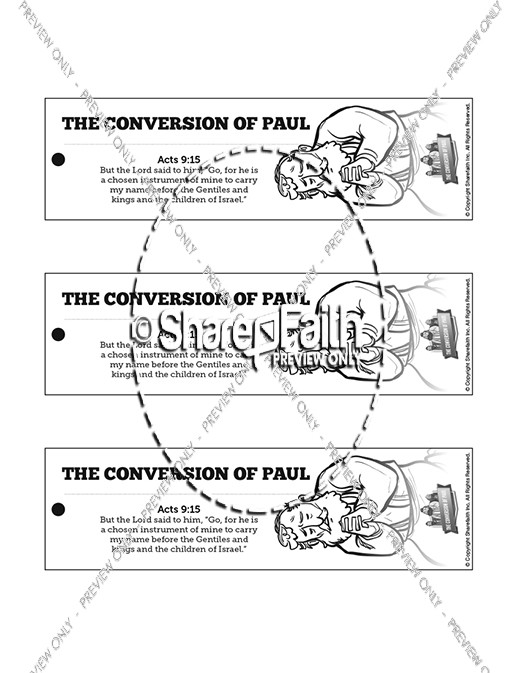 Acts 9 Paul's Conversion Bible Bookmarks