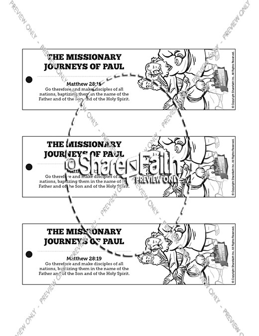 Paul's Missionary Journeys Bible Bookmarks