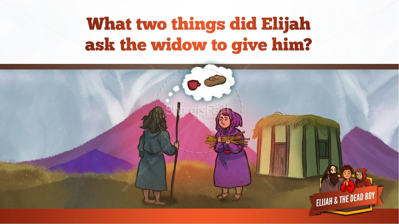 1 Kings 17 Elijah and the Widow Kids Bible Story | slide 15