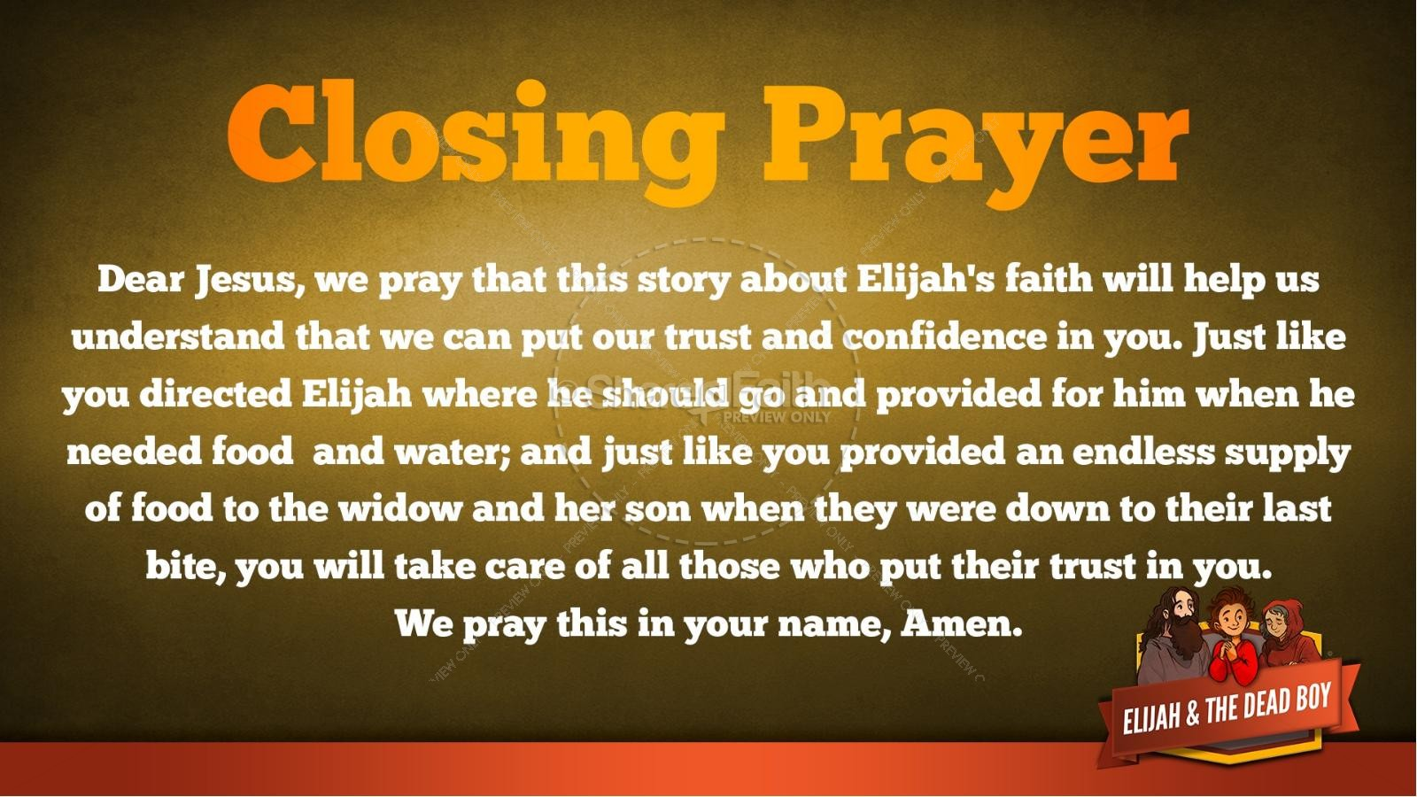 1 Kings 17 Elijah and the Widow Kids Bible Story | slide 40