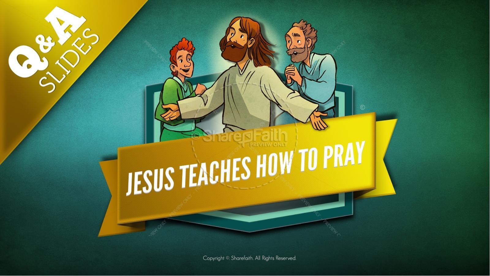 The Lord's Prayer Kids Bible Story | slide 11