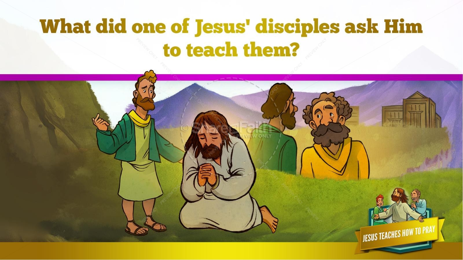 The Lord's Prayer Kids Bible Story   slide 13
