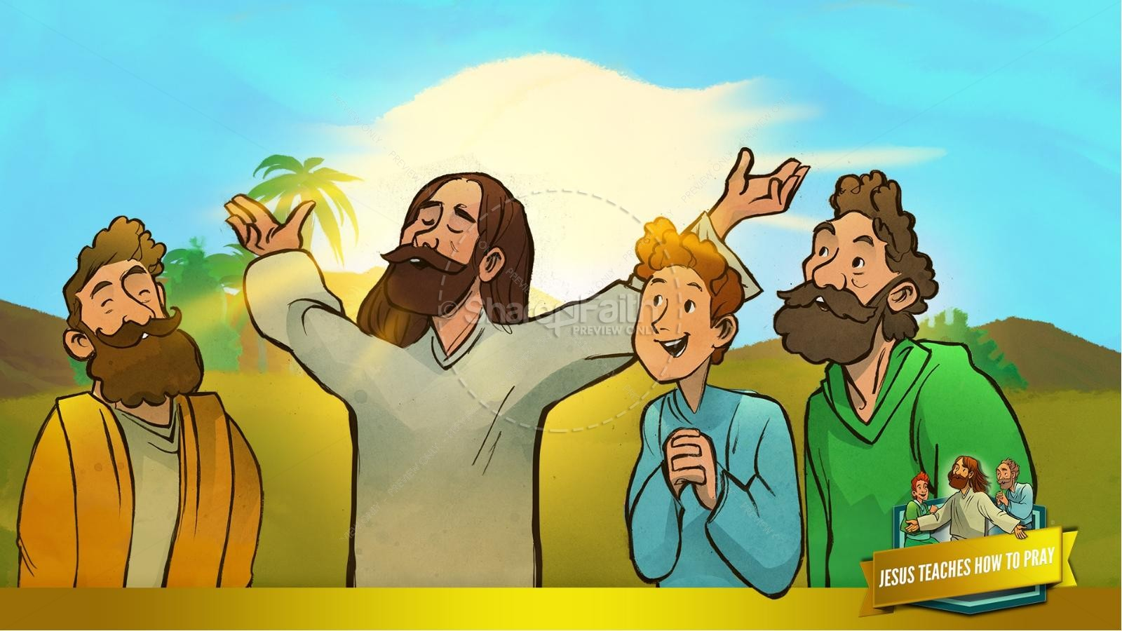 The Lord's Prayer Kids Bible Story | slide 16