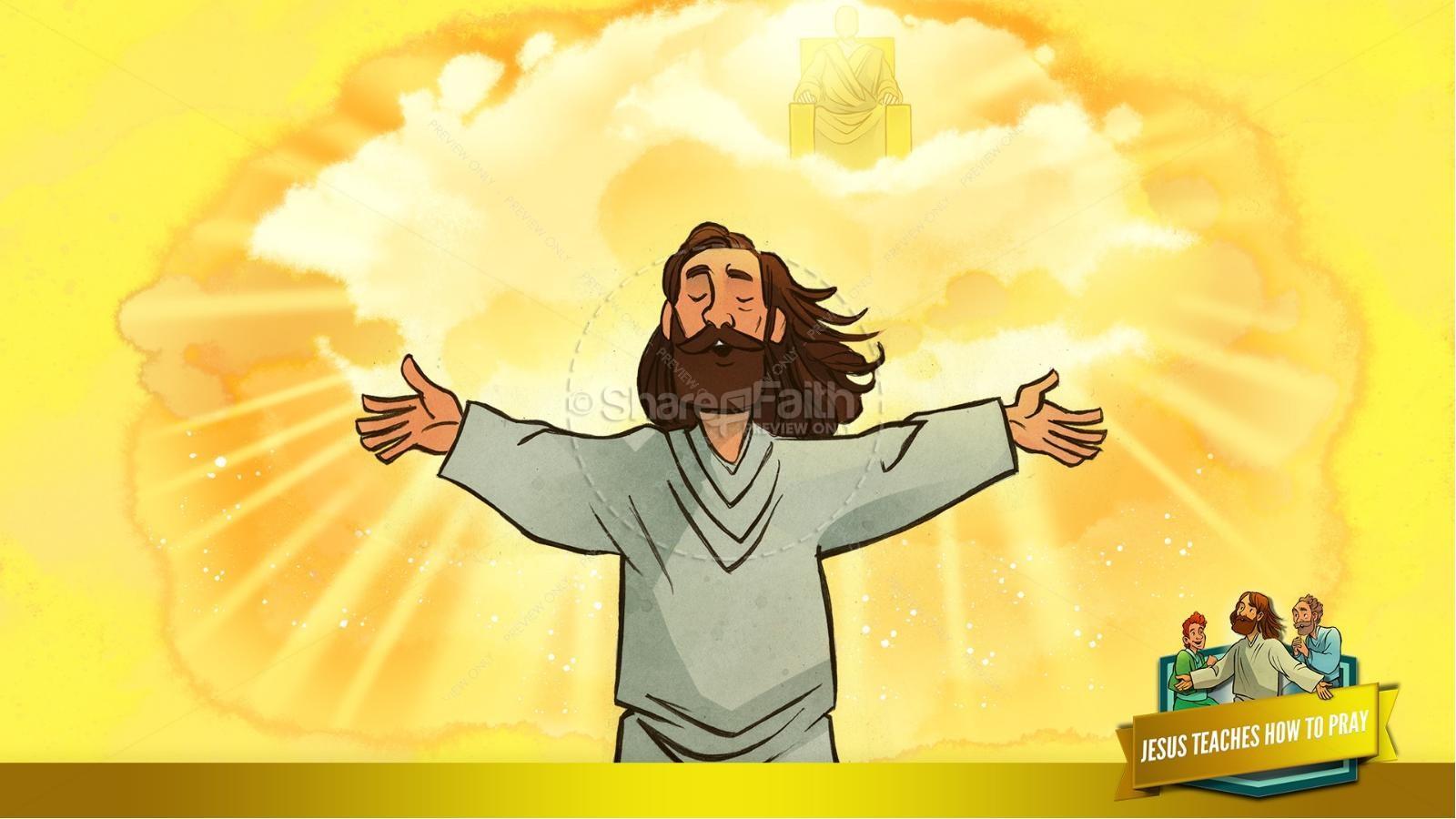 The Lord's Prayer Kids Bible Story   slide 20