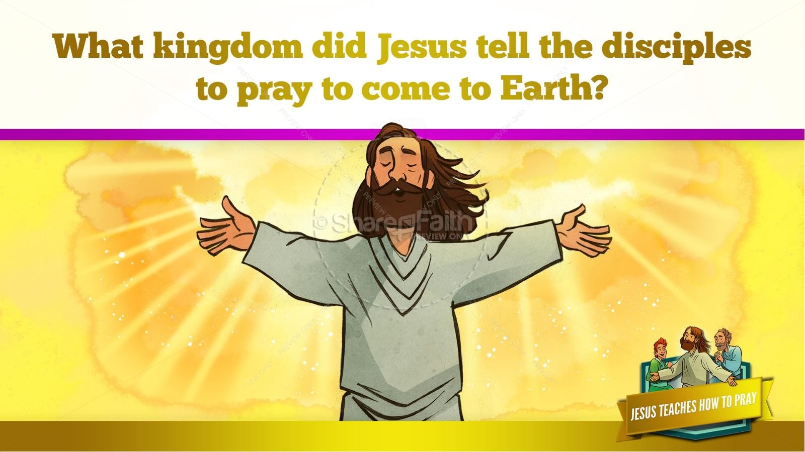The Lord's Prayer Kids Bible Story | slide 21