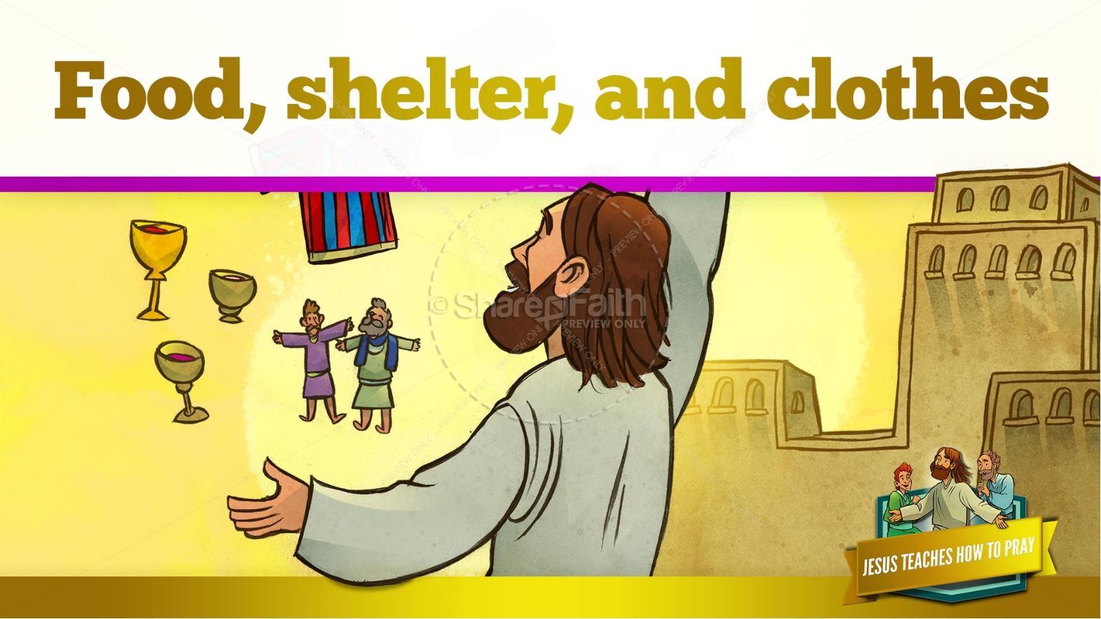 The Lord's Prayer Kids Bible Story | slide 26