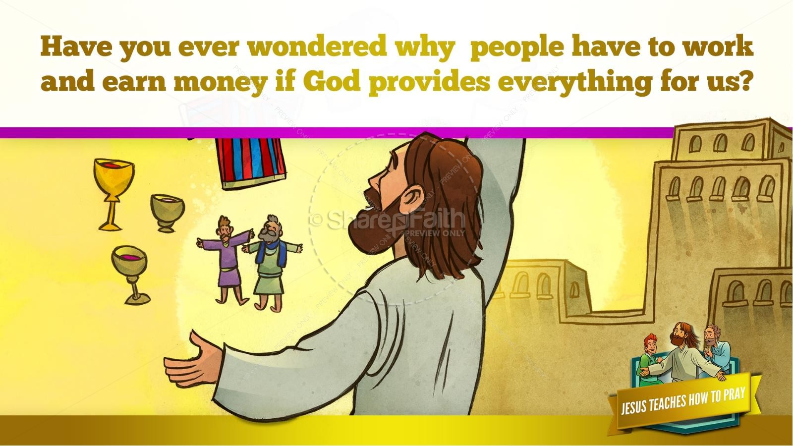 The Lord's Prayer Kids Bible Story | slide 27