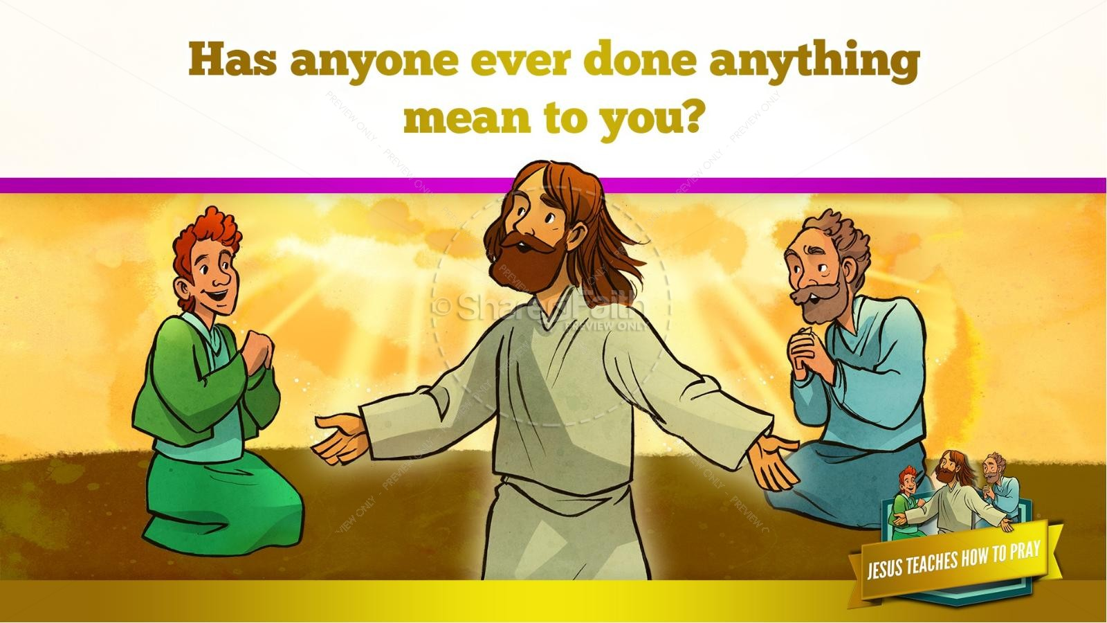 The Lord's Prayer Kids Bible Story | slide 31