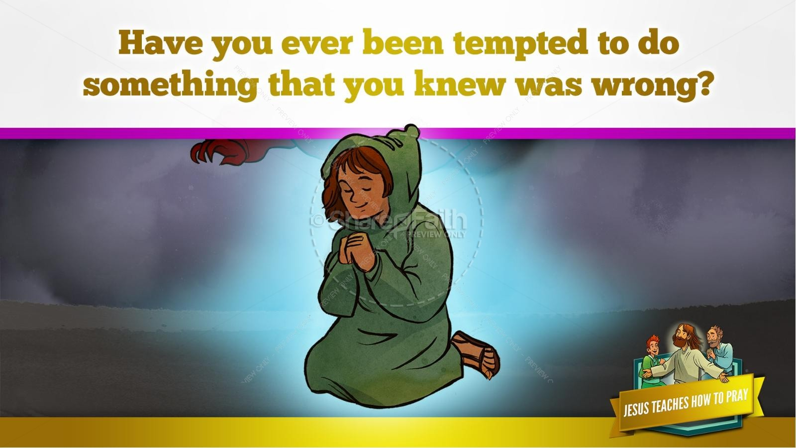 The Lord's Prayer Kids Bible Story | slide 35