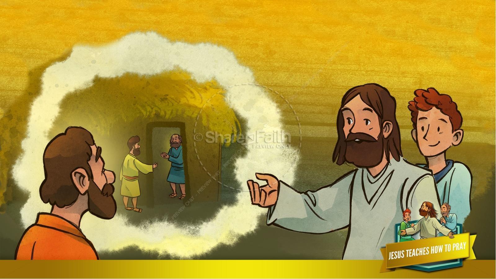 The Lord's Prayer Kids Bible Story | slide 36