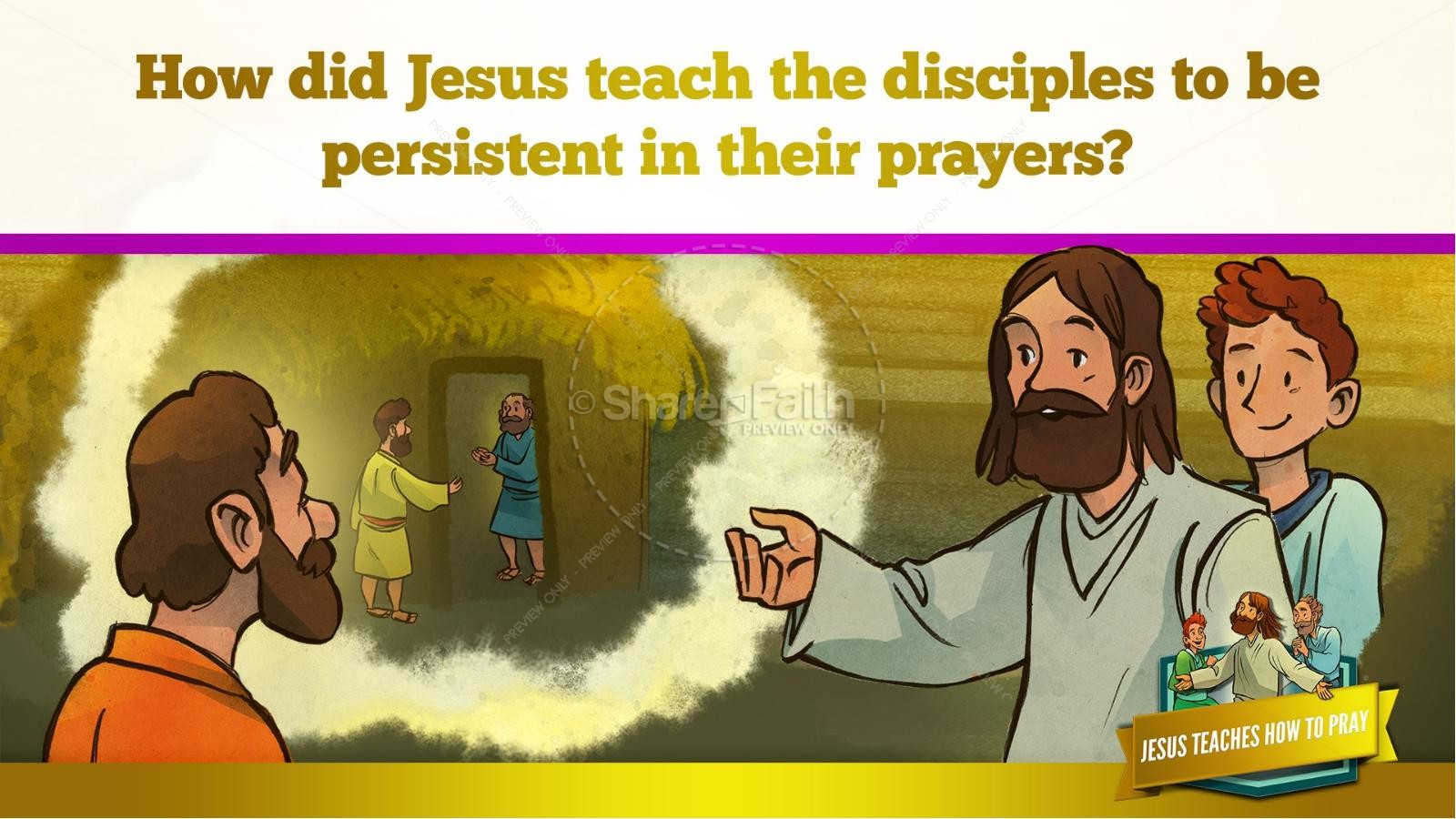 The Lord's Prayer Kids Bible Story | slide 37