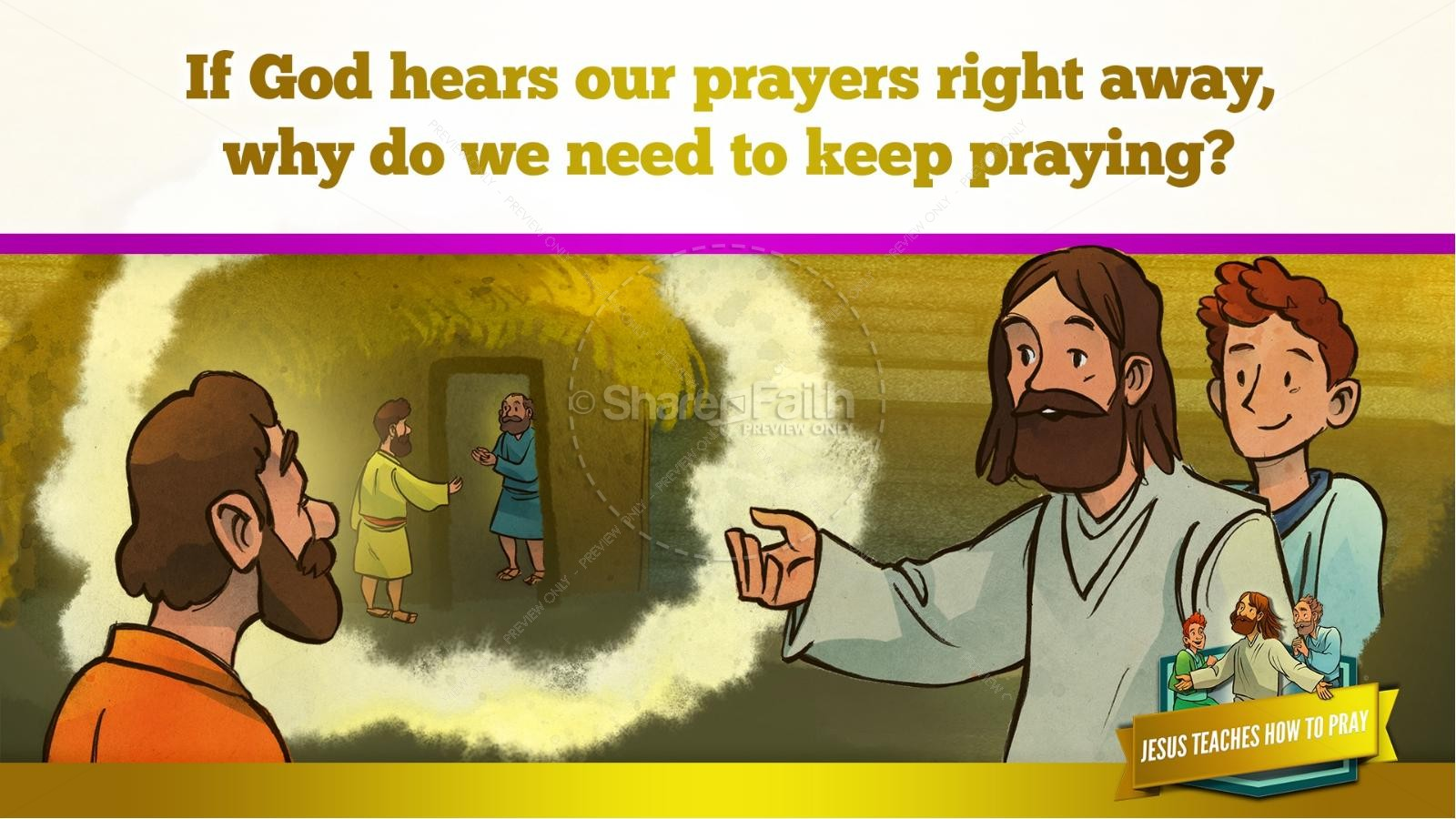 The Lord's Prayer Kids Bible Story | slide 39
