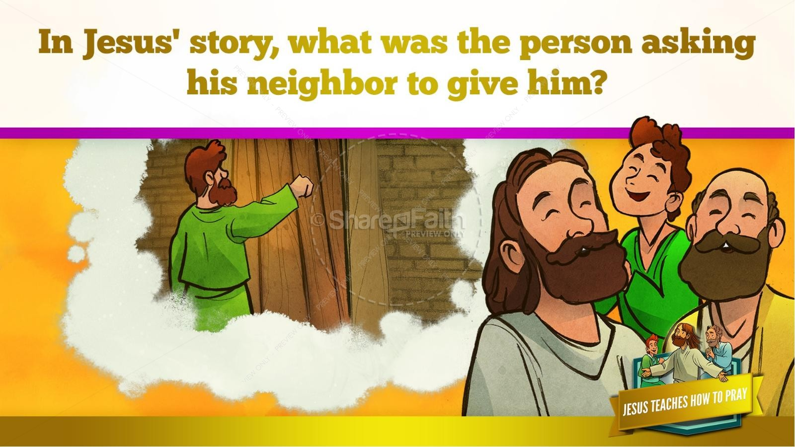The Lord's Prayer Kids Bible Story | slide 41
