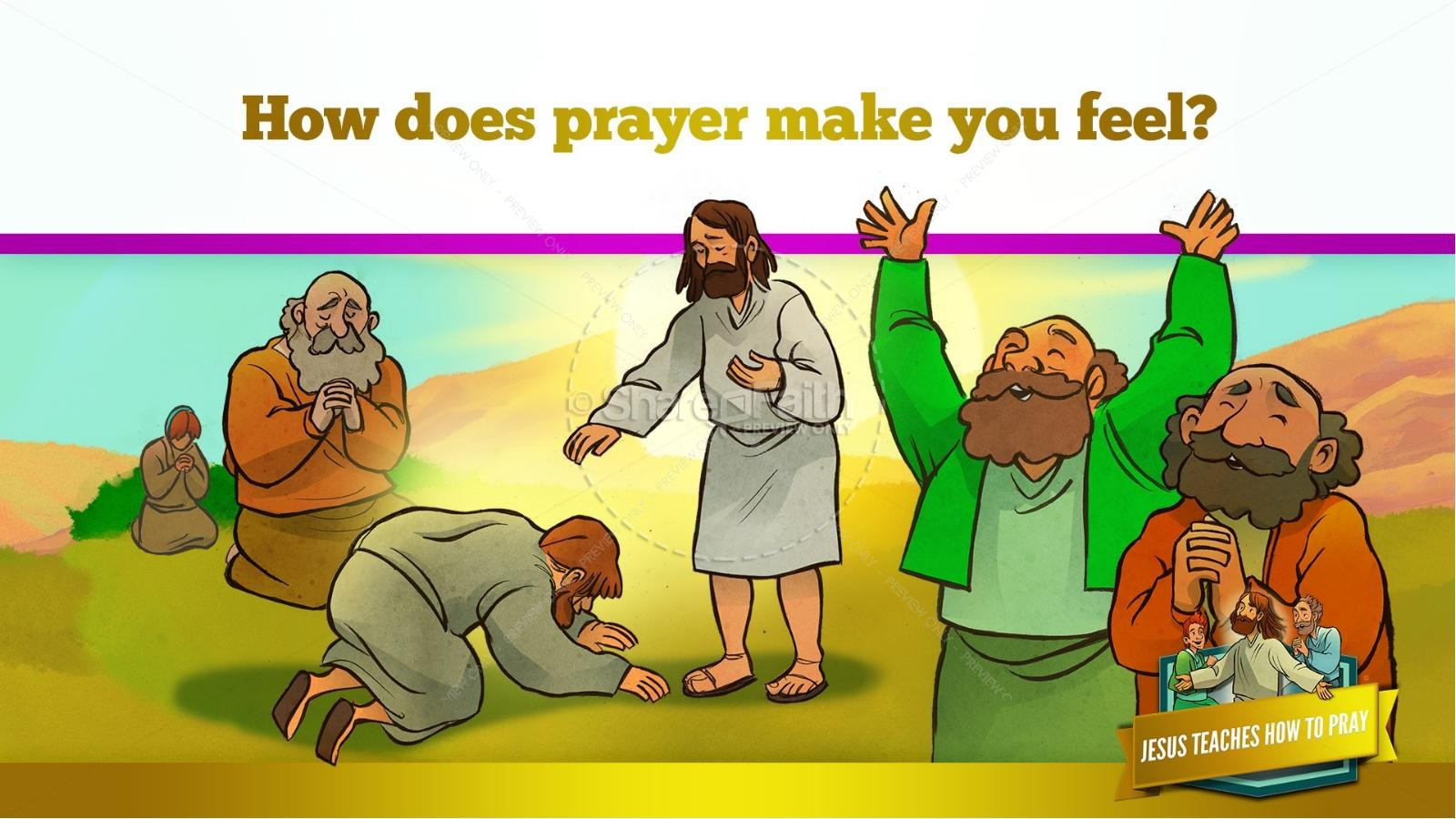 The Lord's Prayer Kids Bible Story | slide 47