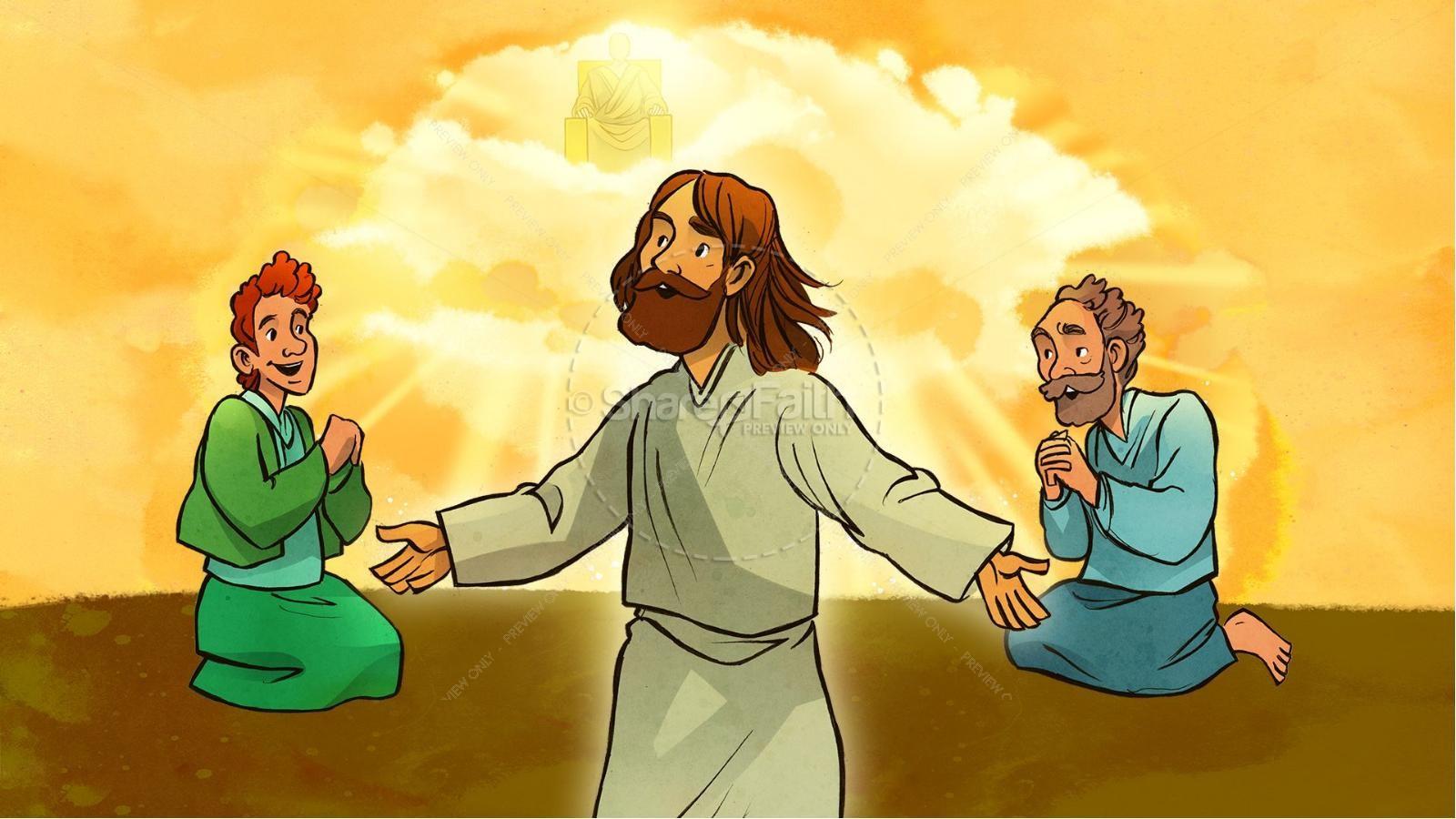 The Lord's Prayer Kids Bible Story | slide 6