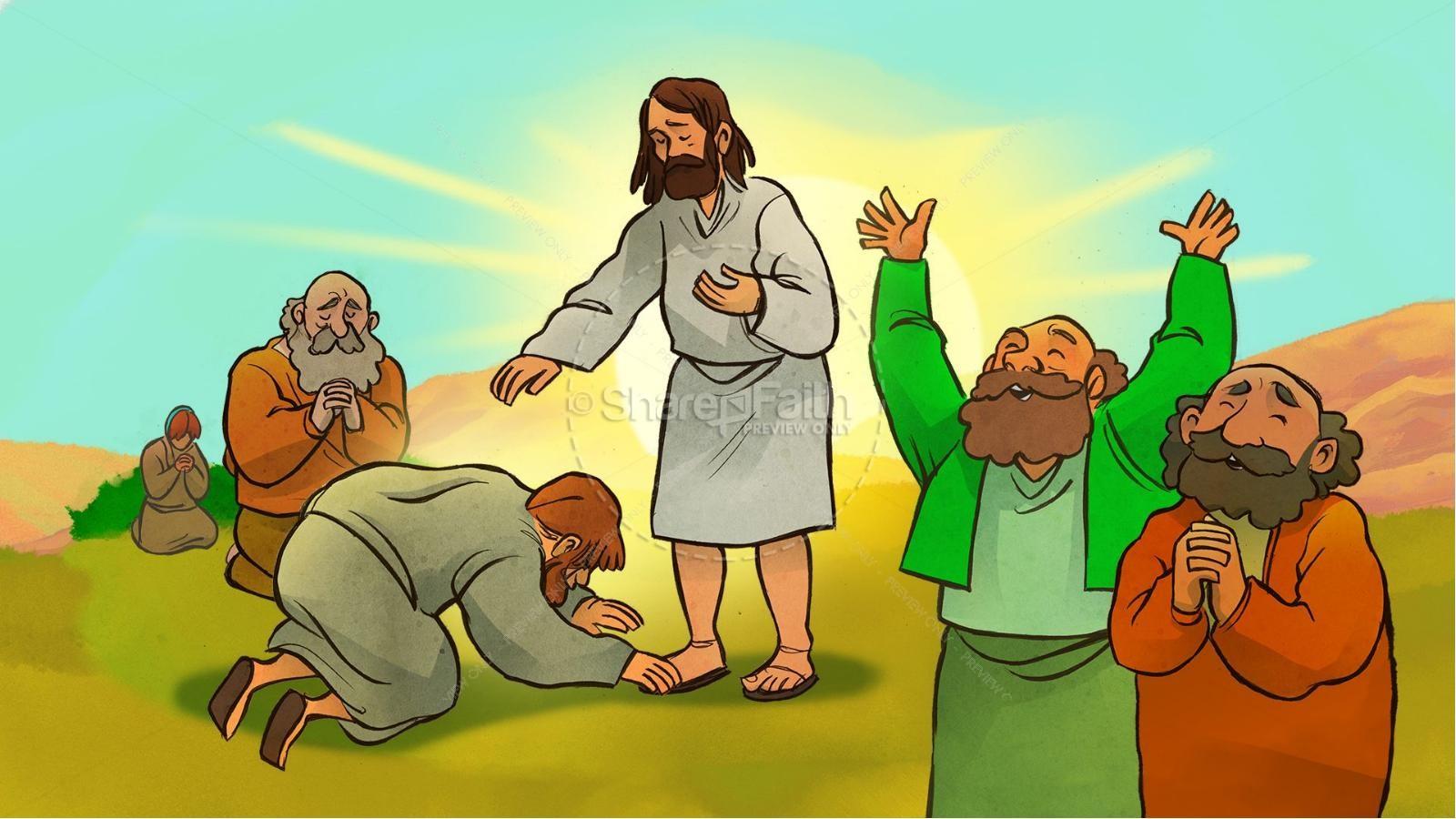 The Lord's Prayer Kids Bible Story | slide 10