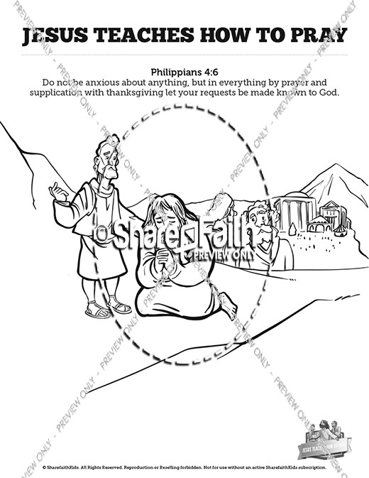 The Lords Prayer Sunday School Coloring Pages