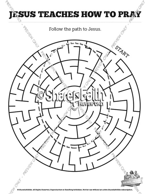 The Lord's Prayer Bible Mazes