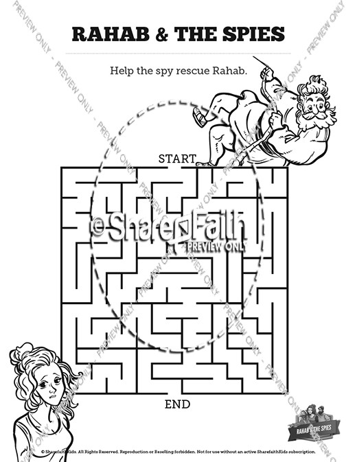 Joshua 2 The Story of Rahab Bible Mazes