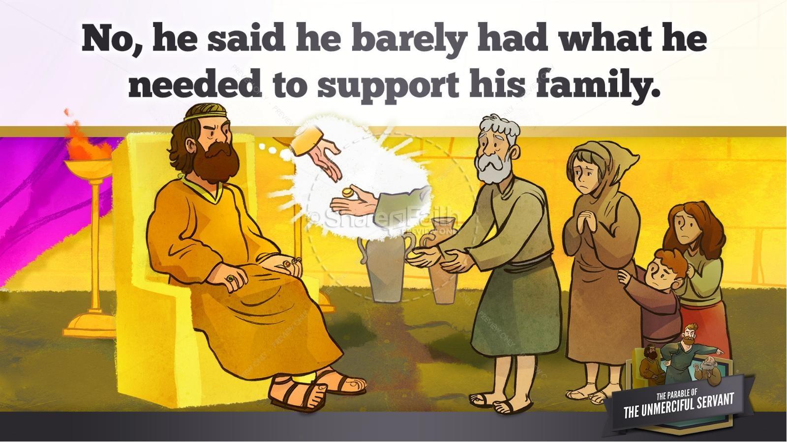 Matthew 18 The Parable of the Unforgiving Servant Kids Bible Story ...