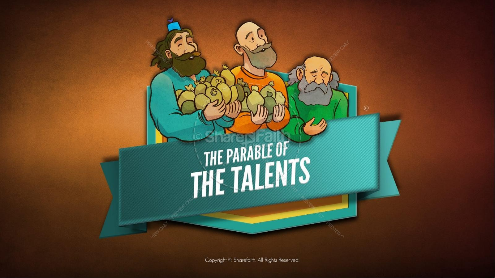 The Parable Of Talents Kids Bible Story