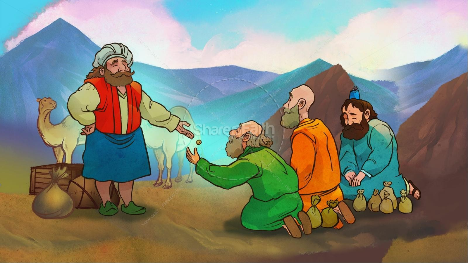 the parable of the talents kids bible story kids bible stories