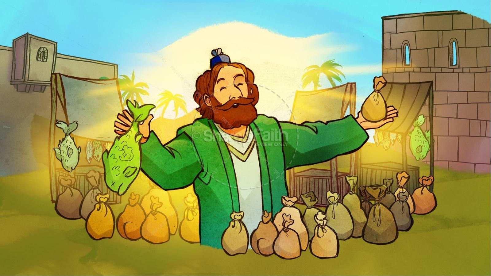 The Parable of the Talents Kids Bible Story | Kids Bible Stories