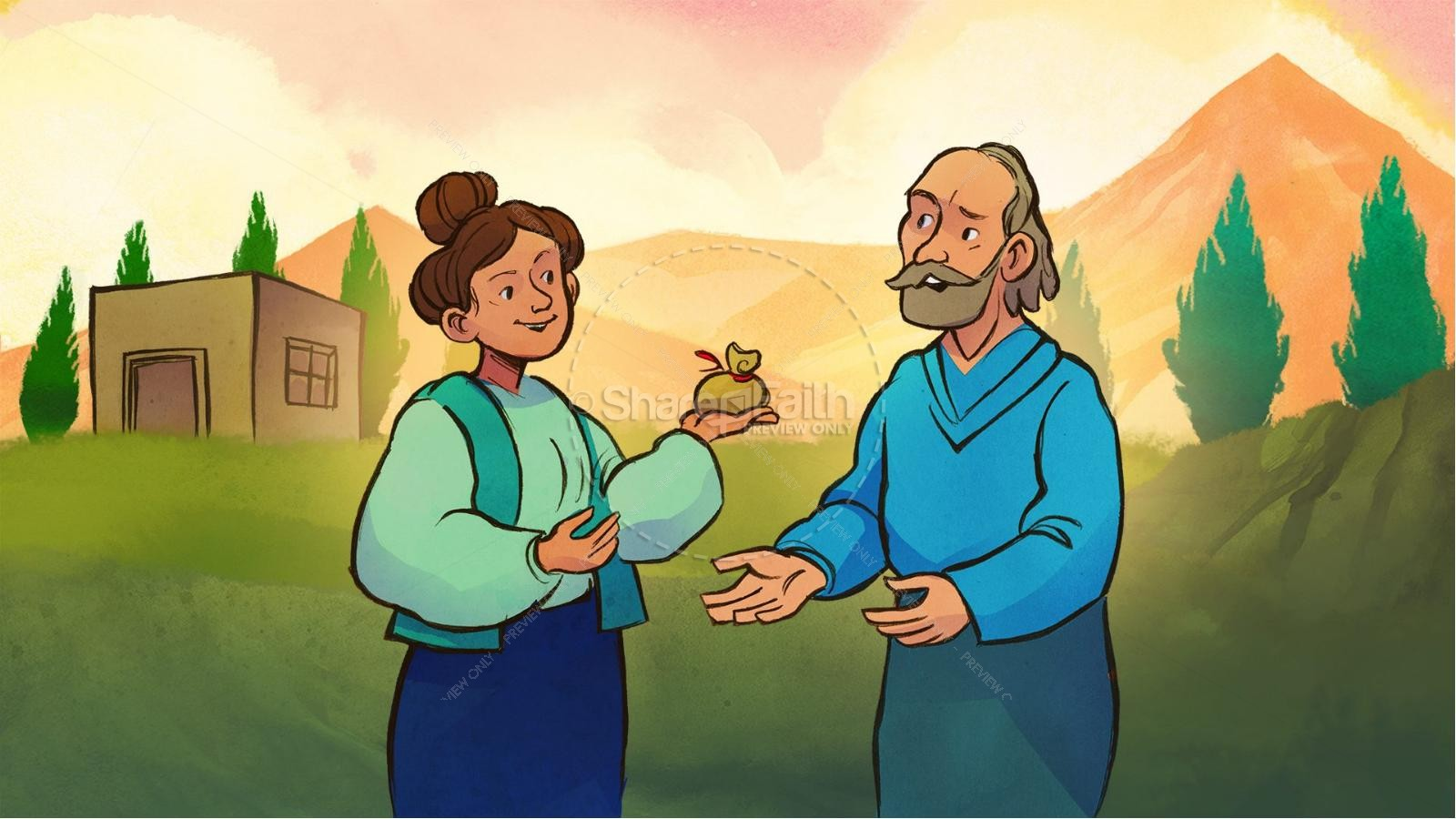 Acts 5 Ananias and Sapphira Kids Bible Stories | slide 2