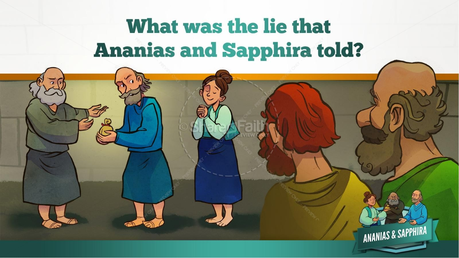 Acts 5 Ananias and Sapphira Kids Bible Stories