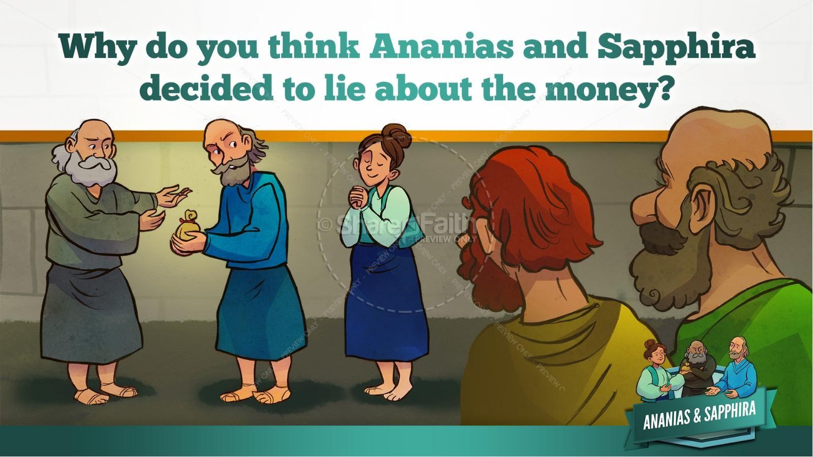 Acts 5 Ananias and Sapphira Kids Bible Stories | slide 19