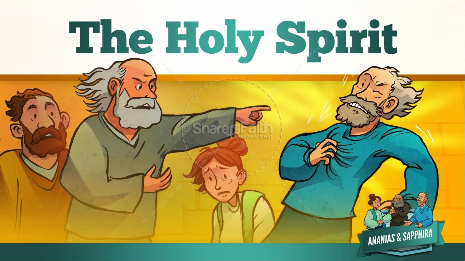 Acts 5 Ananias and Sapphira Kids Bible Stories | slide 22