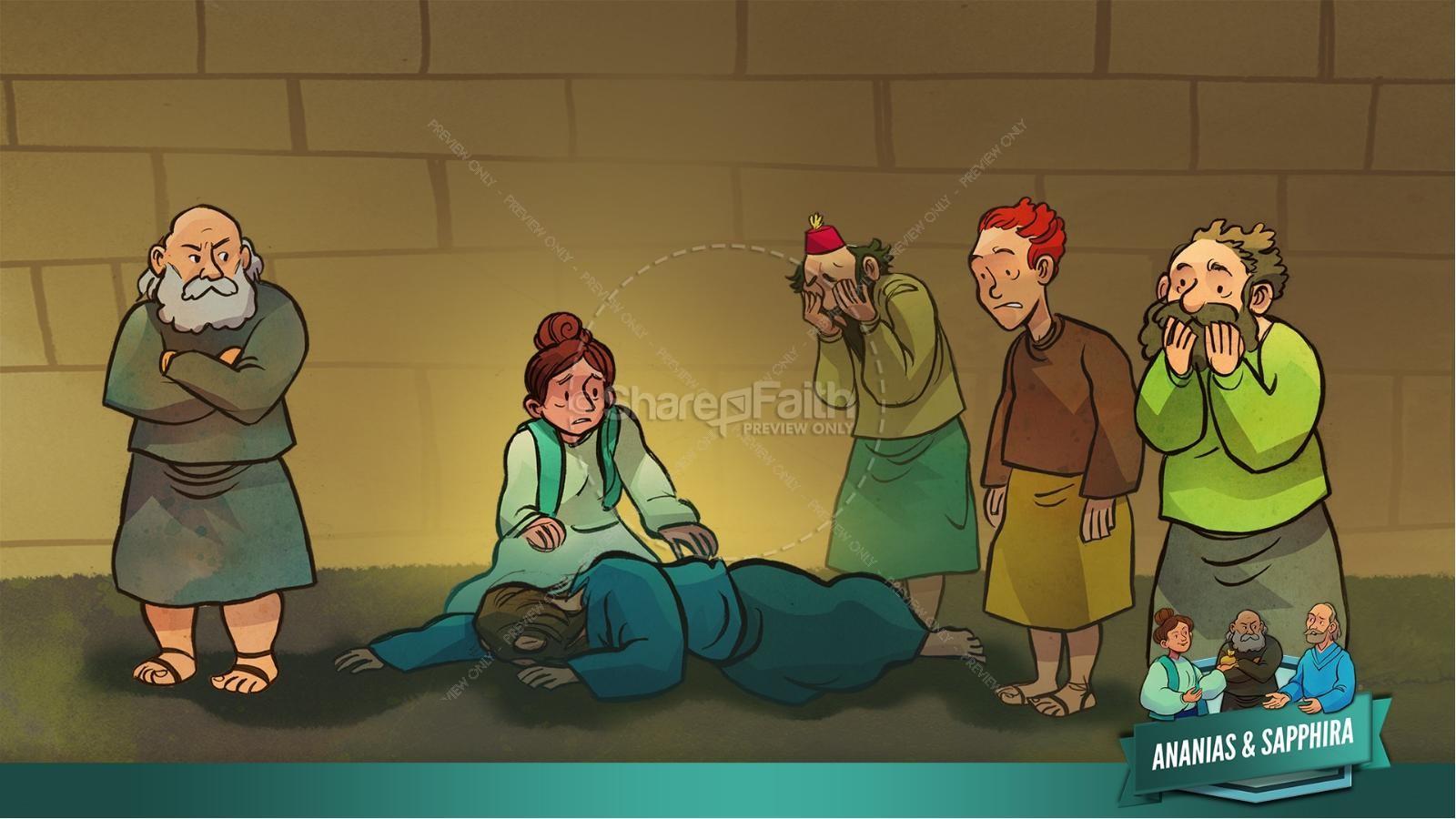 Acts 5 Ananias and Sapphira Kids Bible Stories | slide 24